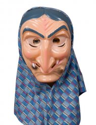 Hexe Kopftuch Maske Theatermaske Gesichtsmaske bunt