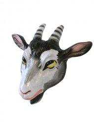 Ziege Zicke Tiermaske Ziegenmaske weiss-schwarz