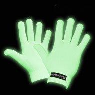 Leucht-Handschuhe Party Accessoire grün