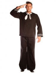 Matrose Karneval-Kostüm schwarz-weiss