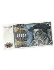 100 D-Mark-Schein Taschentüscher 10 Stück grau-weiss 11x6cm