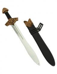 Wikinger Schwert mit Scheide schwarz-gold 60cm