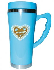 Oktoberfest Thermobecher Lausbub blau 450ml