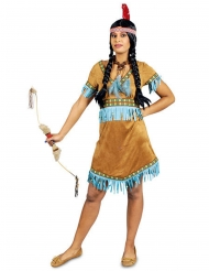 Indianerin Wildwest Damenkostüm braun-türkis