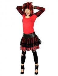 Schottenrock Punk-Minirock rot-schwarz