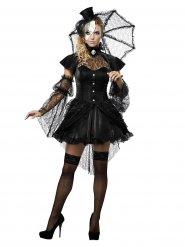 Gothic Ragdoll Halloween Damenkostüm schwarz