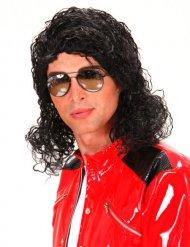 80er Jahre King of Pop Perücke schwarz