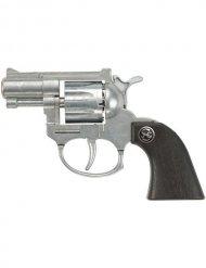 Ruby 8-Schuss Spielzeug-Pistole schwarz-silber 13cm