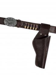 Cowboy Pistolengürtel Lady mit Holster 105cm antikbraun