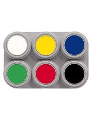 Grimas Aqua Make-Up Schmink-Palette 6 Farben bunt 15ml