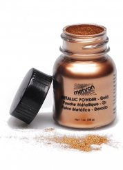 Mehron Make-Up Metallic-Puder gold 14g