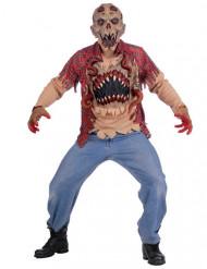 Alien-Monster Halloween-Kostüm braun-rot