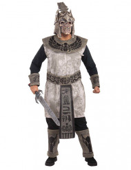 ägyptischer Zombie-Krieger Halloween-Kostüm grau