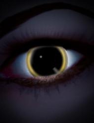 UV Kontaktlinsen schwarz-gelb