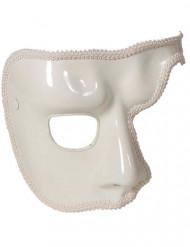 Venezianische Phantom Augenmaske halb weiss