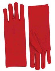 Damen-Handschuhe kurz rot