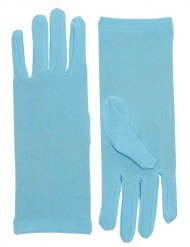 Damen-Handschuhe kurz blau