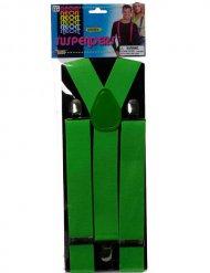 80er Hosenträger neon-grün