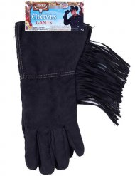Cowboy Handschuhe mit Fransen schwarz