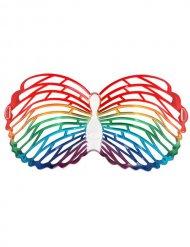 Schmetterling Brille Karneval bunt