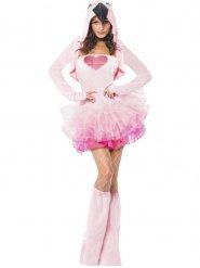 Sexy Flamingo Damenkostüm rosa