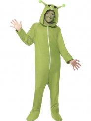 Alien Kinderkostüm Ausserirdischer grün