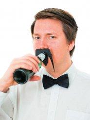 Flaschenaufsatz Schnauzbart Fernost schwarz 10,5x8cm