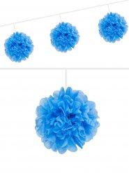 Oktoberfest Pompom-Girlande blau 3m