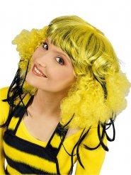 Biene Perücke Afro mit Pony gelb-schwarz