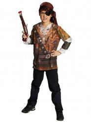 Piraten-Shirt Kinderkostüm braun-beige