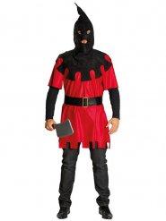 Mittelalter Henker Halloween-Kostüm rot-schwarz