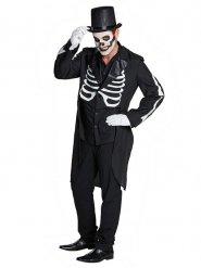 Halloween-Frack Skelett schwarz-weiss