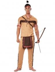 Indianer Herrenkostüm beige-braun