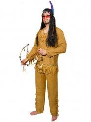 Indianer Herrenkostüm mit Fransen braun