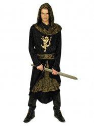 Ritter Mittelalter Herrenkostüm schwarz-gold