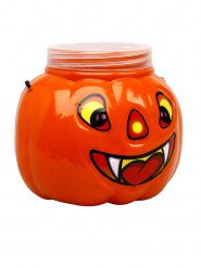 Bonbon-Schale Kürbis Halloween Party-Deko orange 16cm