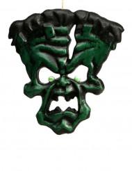 Wütendes Monster Halloween Party-Hängedeko grün 36x33cm