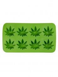 Hanfblatt Eiswürfelform Marihuana Party-Gadget grün 23x11cm