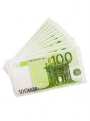 Servietten 100 Euro-Schein 10 Stück grün-weiss 16x9cm