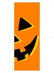 Kürbis Halloween Tür-Deko orange 213x80cm