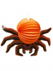 Fiese Spinne Halloween Wabe Party-Deko orange-braun 53cm
