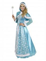 Bezaubernde Schneekönigin Damenkostüm blau-weiss