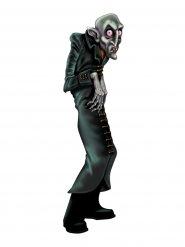 Schauriger Ghul Cutout Halloween Party-Deko schwarz-grau 89x26cm