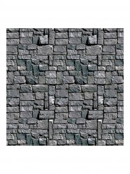 Steinerne Mauer Halloween Wand-Dekofolie grau 1,2x9,1m