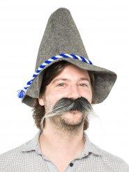 Riesenschnurrbart Bayer Bart grau-weiss