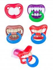Zähne mit Schnuller Lolli Lutscher bunt