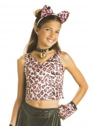 Leopard Kinder-Shirt wendbar pink
