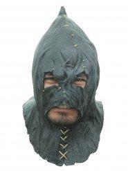 Mittelalterlicher Folterknecht Latex-Maske Kapuze grau