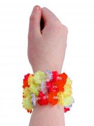 Hawaii Blüten-Armband Kostüm-Zubehör bunt