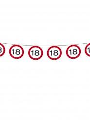 Wimpelkette 18. Geburtstag Party-Deko Girlande schwarz-rot-weiss 600x20cm